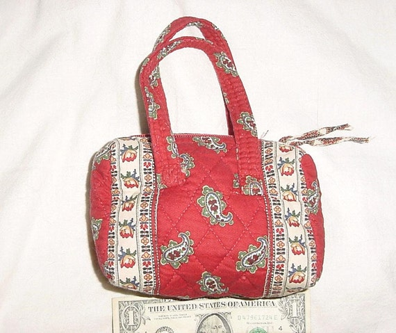 Items Similar To Vintage 90s Vera Bradley Mini Purse Red