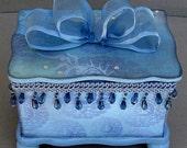 Blue Asia Keepsake Decorative Trinket Jewelry Box