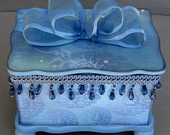 Blue Asia Keepsake Decorative Trinket Jewelry Box