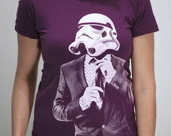 Smarttrooper - American Apparel Womens t shirt   ( Star Wars / Stormtrooper womens t shirt )