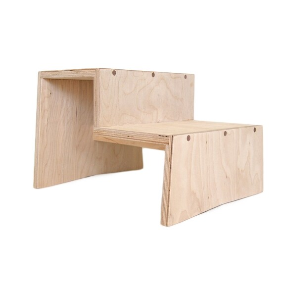 Kids Two Step Stool In Birch Child Stool Kids Step Birch