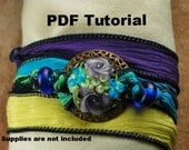 Bracelet Tutorial, Silk Wrap Lampwork Bracelet Tutorial, All In One Clasp SRA 177 by CC Design