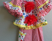 Ready To Ship NOW-- SALE   Child's Vintage Inspired Clown Costume Size 2t/3t