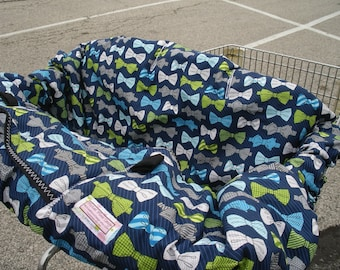 Shopping Cart cover  for boy.....Bowties....boydacious bowties
