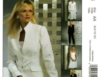 McCall's M5008 Non Stop Wardrobe Jacket Top Skirt Pants Size 6 8 10 12 Uncut Sewing Pattern 2005