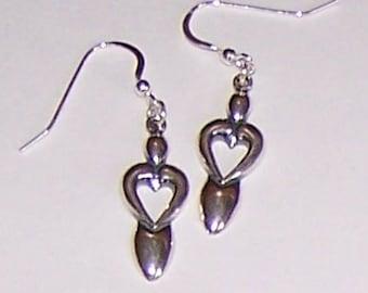 Sterling Silver LOVE GODDESS Earrings -