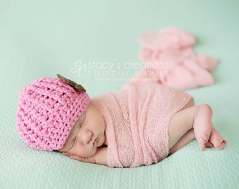 Baby Girl Hat, Newborn Girl Hat, Crochet Baby Hat, Crochet Infant Hat, Baby Newsboy Hat, Infant Girl Hat, Hat for Girls, Pink, Girl Beanie