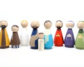 Peg Doll Nativity Set Wooden Dolls // Goose Grease Original Fair Trade Wooden Dolls