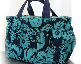 Watermelon Wishes Crochet Knitting Caddy Craft Tote Bag Organizer