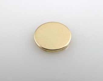 """Gold Filled Discs - 1/2"""" - Stamping Discs - Personalized Jewelry"""