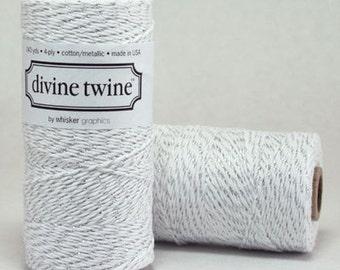 CLEARANCE Metallic Silver Divine Twine - Baker's Twine