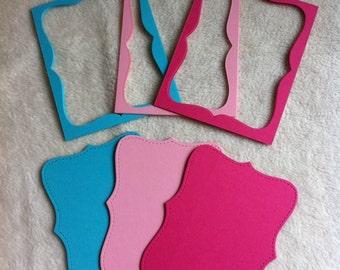 Top Note Mats/Frames...24 Piece Set of Very Pretty Top Note Mats and Frames for Scrapbooking and Cardmaking