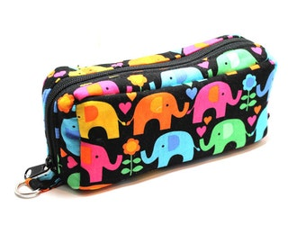 Essential Oil Case Holds 10 Bottles Essential Oil Bag Colorful Elephants