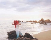 Love Me Do - Romantic Boho Wedding Gown Silk Chiffon Flowers Custom made Wedding Dress
