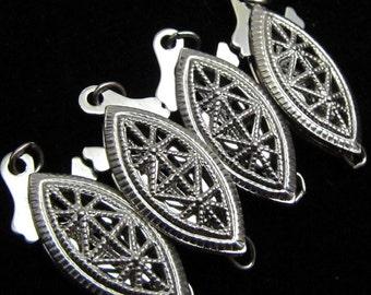 4 Vintage Silver Filigree Clasps SC 100