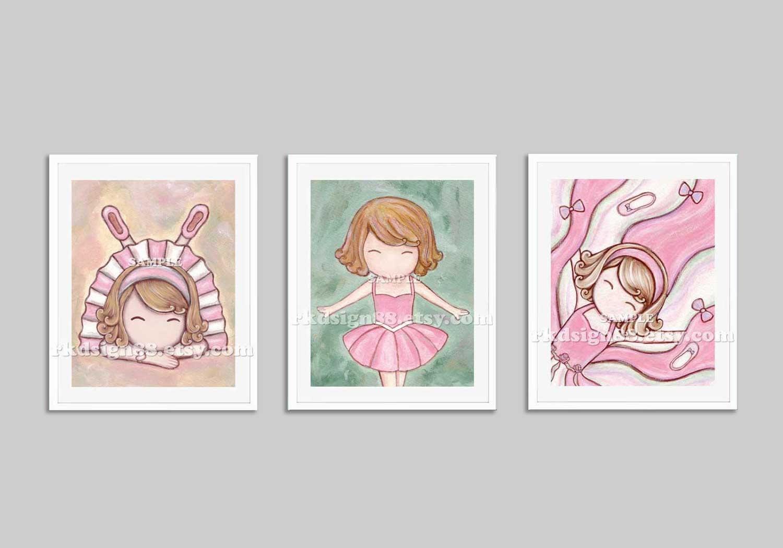 Nursery art prints baby girl nursery decor nursery print for Baby girl nursery paintings