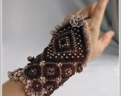 The Lamplight Fingerless Glove Cuff - (Left hand only)