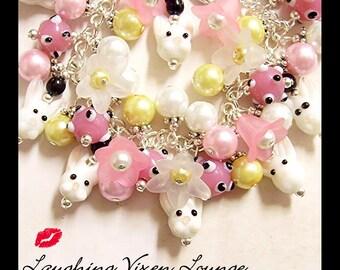 Easter Bracelet - Easter Jewelry - Easter Bunny Charm Bracelet - Easter Charm Bracelet - Bunny Bracelet - Bunny Jewelry - Rabbit Bracelet