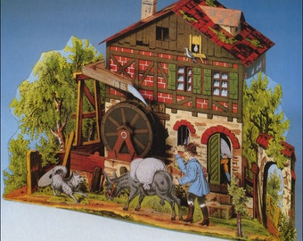 Romantic Mill Model Kit Made In Germany DIY 3-D Paper Kit