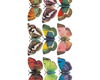 Self Adhesive Butterfly Stickers 1 Sheet Colorful Scrapbooking Stickers  Number 84