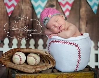 Custom Crochet Baby Backwards Baseball Hat