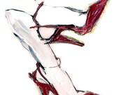 Hand Decorated Shoe Illustration - Carmen's Shoes