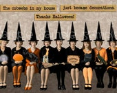 Digital Collage Sheet Glam Halloween Witch Lady Images (Sheet No.O223) Instant Download