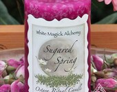 Sugared Spring Ostara Candle 2x3 Pillar . New Beginnings and the Coming of Spring