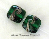 Emerald Green Glass Beads...