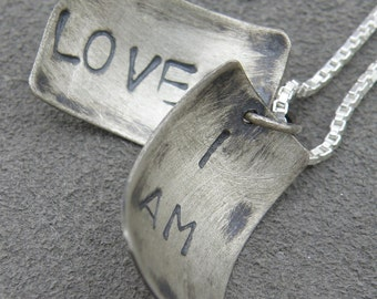 Faux Locket - I Am Loved - Silver Necklace - Self-Affirmation