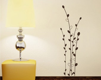 Cattails Wall Decals Floral - Vinyl Tree Wall Art Stickers Cat Tails