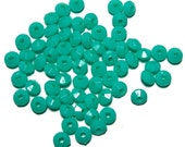 4x6mm acrylic Rondelle Saucer beads in Mint Green 100 beads