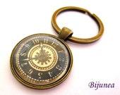 Watch keychain - Clock keychain - Time watch keychain - Clock watch time jewelry k12