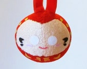 Daruma Doll Japanese Christmas Ornament