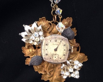 "steampunk necklace ""Time Sparkling"""