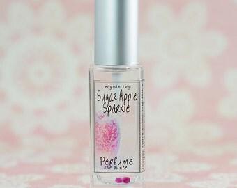 Sugar Apple Sparkle Perfume   Notes of Apple, Raspberry, Clover, Honeysuckle, Jasmine, and Musk