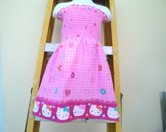 HELLO KITTY Smocked Dress
