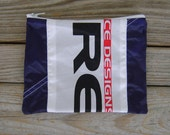 Sabre2 Parachute Logo Label Zippered Pouch with Purple Ripstop