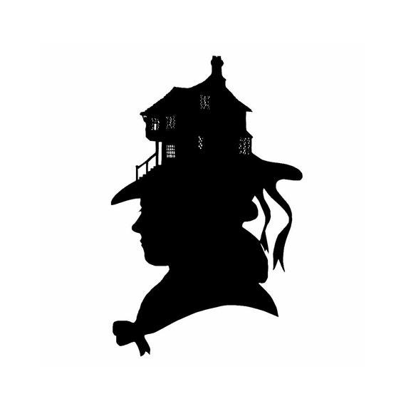 Le Chapeau Hat Silhouette Print Black and White House Hat