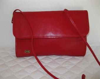Phillippe  clutch satchel shoulder bag  in lipstick red vintage 70s