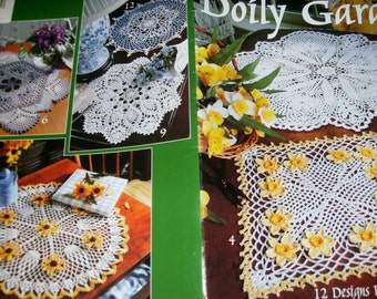 Thread Crochet Patterns Doily Garden Leisure Arts 2772 Pattern Leaflet Delsie Rhoades