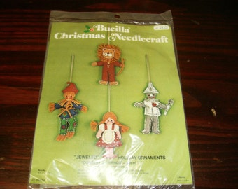 Felt Kit Bucilla Felt Ornament Kit Dorothy and Friends 2113 Jeweled Holiday Ornaments Wizard of Oz Sealed in Original Packaging