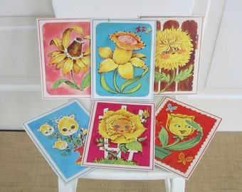 Vintage Lacing Cards Flowers Sixties Whitman Game