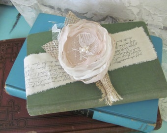 Grooms Burlap Boutonniere Custom Made by Burlap And Bling Design Studio