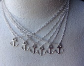6 Pack Anchor Necklaces Gift Pack