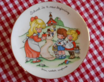 1986 Porcelain Joan Walsh Anglund Plate School is a new beginning