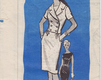 Vintage Pattern Mail Order Anne Adams 4621 Sheath Dress and Jacket 60s Size 12 B32