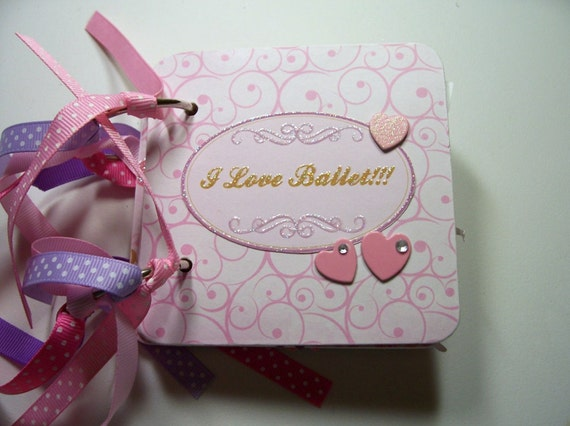Ballet Mini Scrapbook Album, Ballet Scrapbook, Ballet Mini Album, Ballet Photo Album, Ballet Brag Book, Ballet Album, Ballet