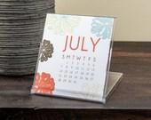 2017 Desktop Calendar with Botanical Designs