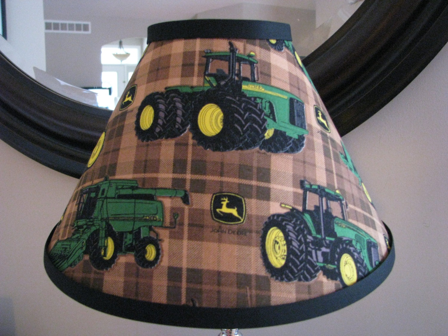Green John Deere Lamp Shade : John deere lamp shade